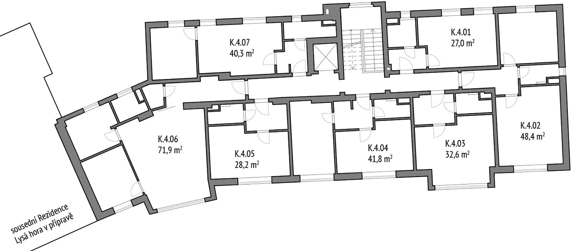 Apartmány 4. NP Kotel